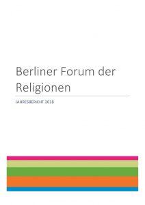 Berliner Forum der Religionen: Jahresbericht 2018