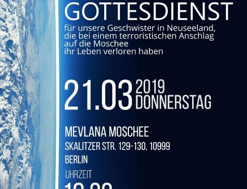 Für Berlin – für Christchurch – für uns alle