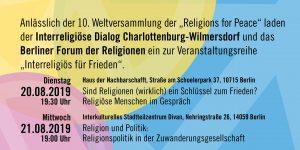 Interreligiös für Frieden
