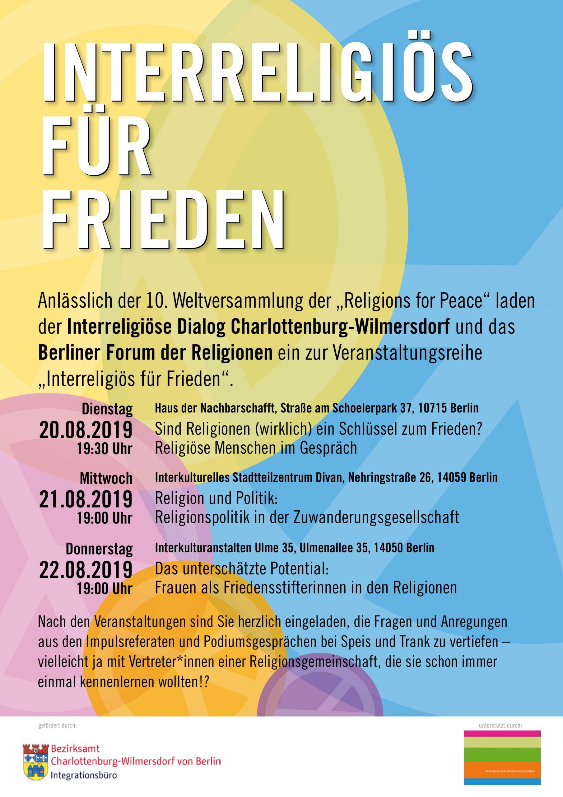 Read more about the article Interreligiös für Frieden