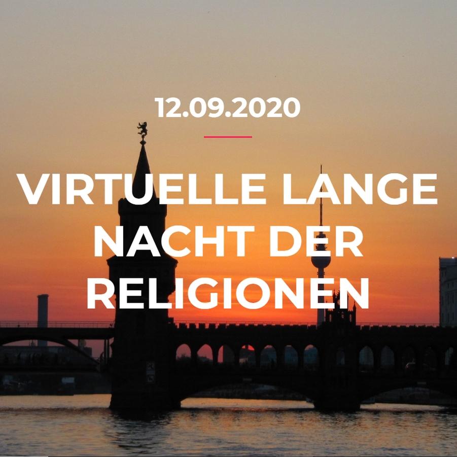 Virtuelle Lange Nacht der Religionen am 12.09.2020