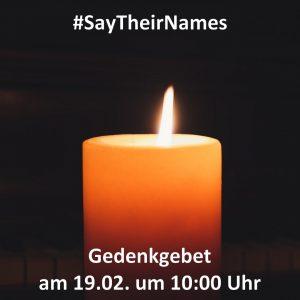 Read more about the article Multireligiöses Gedenkgebet für die Opfer und Hinterbliebenen vonHanau