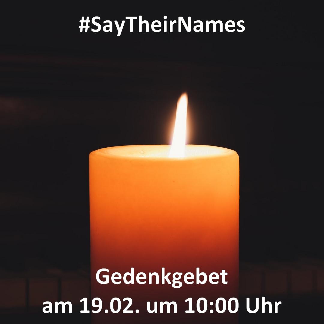 Multireligiöses Gedenkgebet für die Opfer und Hinterbliebenen vonHanau
