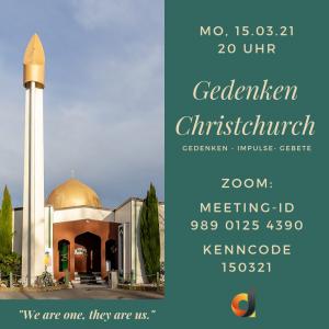Gedenkveranstaltung zu Christchurch