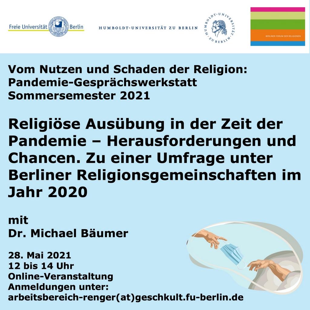 Read more about the article Religiöse Ausübung in der Zeit der Pandemie – Herausforderungen und Chancen